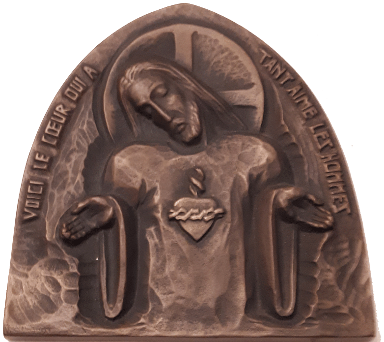 0618 Sacred Heart plaque png