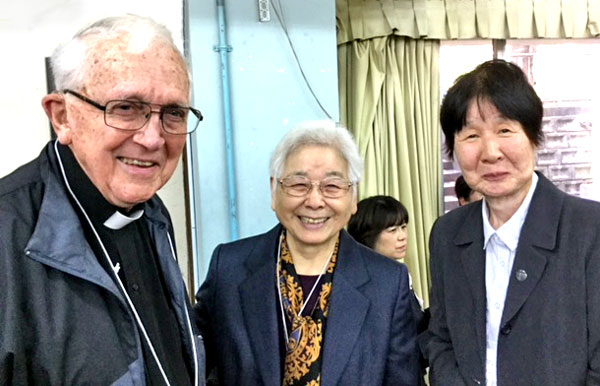 1218 Tomig 1118 Tomi. anniv 2 Fr.Paul with sr.Endo. of Notre DAM missonary from Fukushima